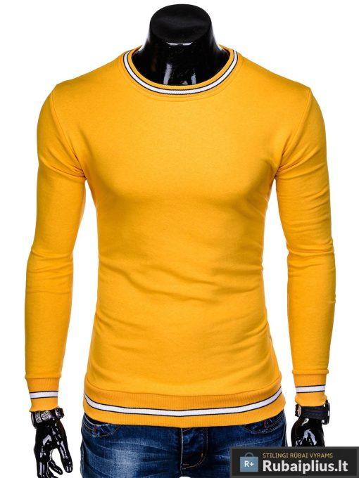 """stilingas Vienspalvis geltonas vyriškas džemperis vyrams """"Mafin"""" internetu pigiau B910G"""