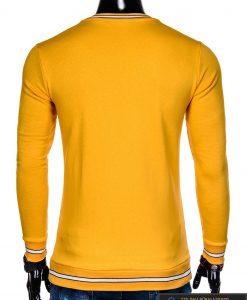 stilingas Vienspalvis geltonas vyriškas džemperis vyrams