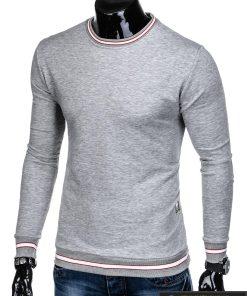 """stilingas vienspalvis pilkas vyriškas džemperis vyrams be gobtivo """"Mafin"""" internetu pigiau B910P"""
