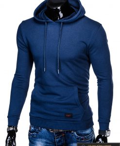 """madingas tamsiai mėlynas vyriškas džemperis su gobtuvu vyrams""""Forein"""" internetu pigiau B905TM"""