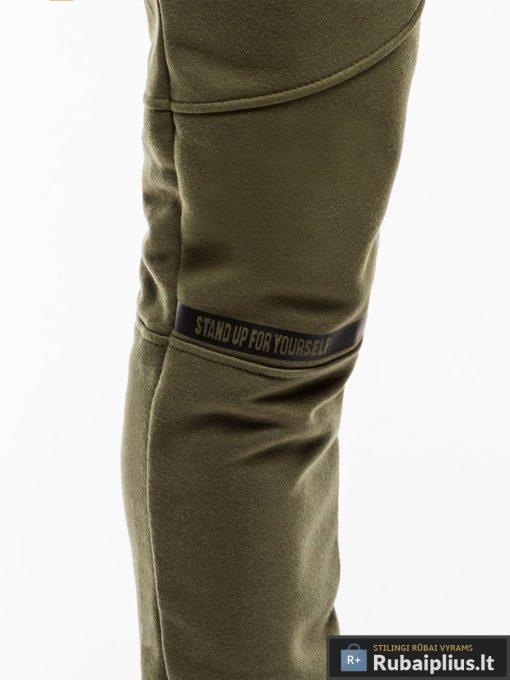 Stilingos vyriskos alyvuogių sportinės kelnės vyrams treningines internetu pigiau P743OL priekis koja