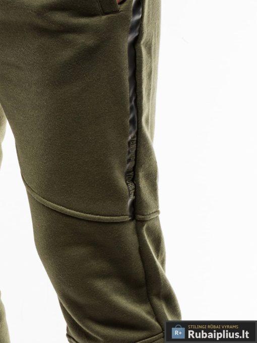 Stilingos vyriskos alyvuogių sportinės kelnės vyrams treningines internetu pigiau P743OL koja šonas