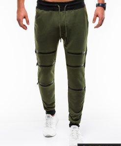 Stilingos vyriskos alyvuogių sportinės kelnės vyrams Trof internetu pigiau P746OL priekis