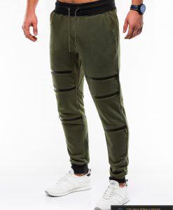 Stilingos vyriskos alyvuogių sportinės kelnės vyrams Trof internetu pigiau P746OL kairė