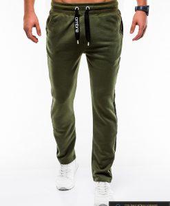 Stilingos vyriskos alyvuogių sportinės kelnės vyrams internetu pigiau P741OL priekis