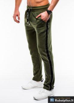 Stilingos vyriskos alyvuogių sportinės kelnės vyrams internetu pigiau P741OL kairė