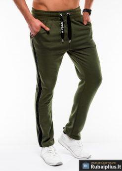 Stilingos vyriskos alyvuogių sportinės kelnės vyrams internetu pigiau P741OL dešinė