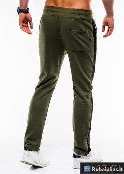 Stilingos vyriskos alyvuogių sportinės kelnės vyrams internetu pigiau P741OL nugara