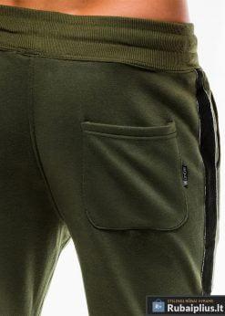 Stilingos vyriskos alyvuogių sportinės kelnės vyrams internetu pigiau P741OL nugara kišenė
