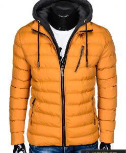 Geltona rudeninė-pavasarinė vyriška striukė vyrams Uffo internetu pigiau C384G priekis