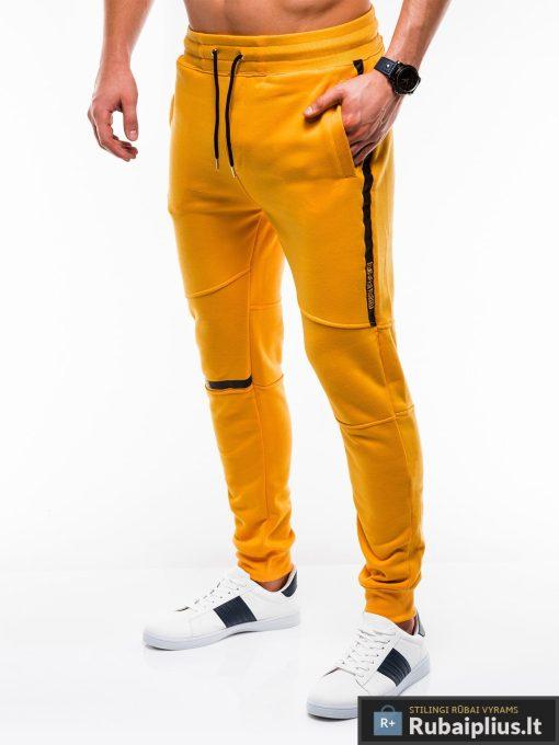 Stilingos vyriskos geltonos sportinės kelnės vyrams treningines internetu pigiau P743G kairė