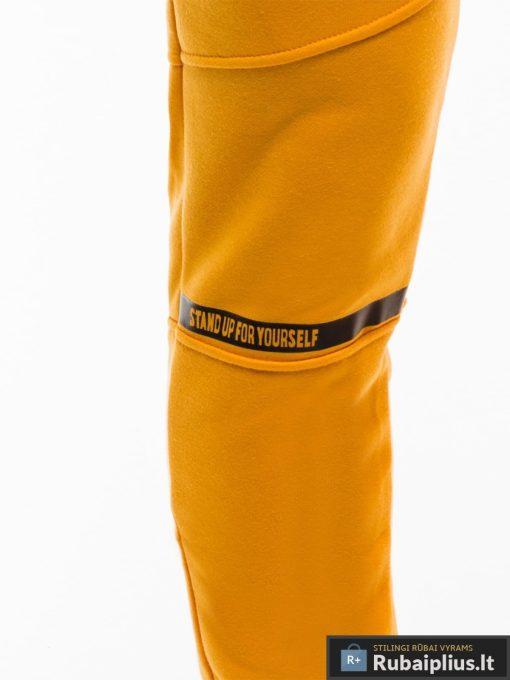 Stilingos vyriskos geltonos sportinės kelnės vyrams treningines internetu pigiau P743G priekis koja