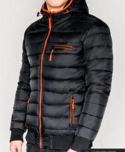 Madinga juoda rudeninė-pavasarinė vyriška striukė vyrams Dorsi internetu pigiau C353J kairė