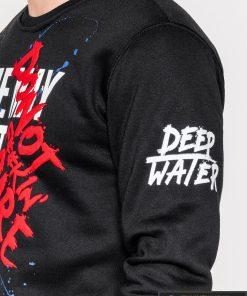 Juodas vyriškas džemperis su užrašais vyrams Donot internetu pigiau B939J kairė