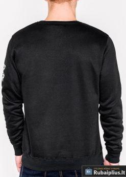 Juodas vyriškas džemperis su užrašais vyrams Donot internetu pigiau B939J nugara