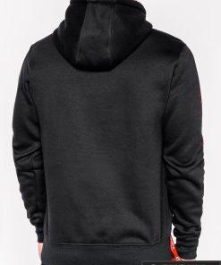 Madingas juodas vyriškas džemperis su užrašu ir paveiksliuku Dream vyrams internetu pigiau B948J nugara