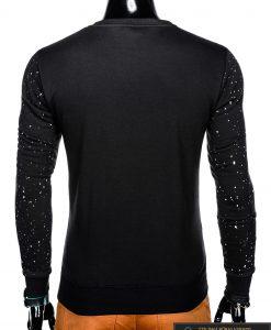 Madingas juodas vyriškas džemperis su užrašais vyrams internetu pigiau B951J nugara