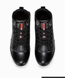 stilingi vyriski juodi laisvalaikio batai vyrams