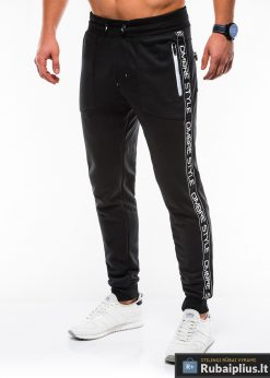 Stilingos vyriskos juodos sportinės kelnės vyrams Ostyle internetu pigiau P744J kairė