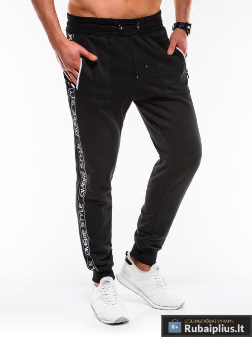 Stilingos vyriskos juodos sportinės kelnės vyrams Ostyle internetu pigiau P744J dešinė