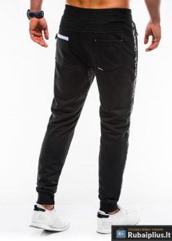 Stilingos vyriskos juodos sportinės kelnės vyrams Ostyle internetu pigiau P744J nugara
