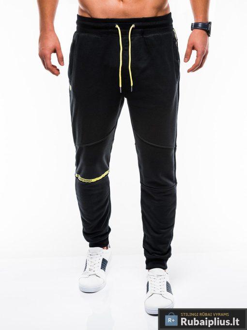 Vyriskos juodos sportinės kelnės vyrams internetu pigiau P743J priekis