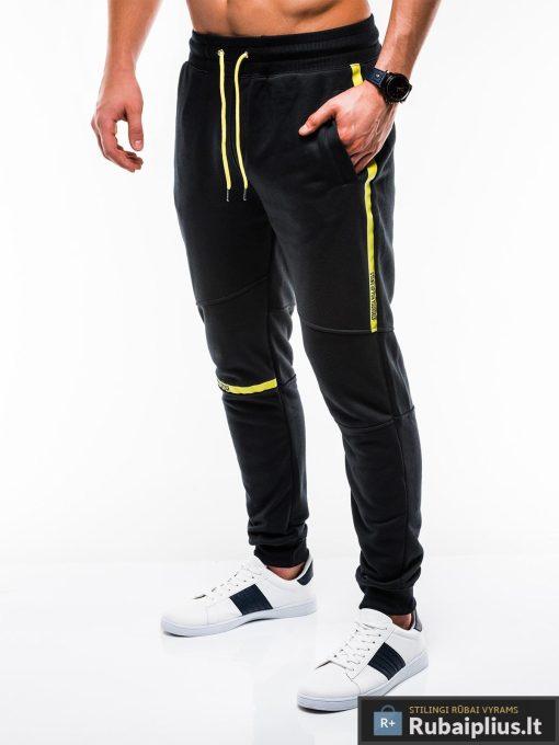 Vyriskos juodos sportinės kelnės vyrams internetu pigiau P743J kairė