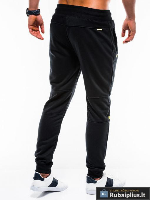 Vyriskos juodos sportinės kelnės vyrams internetu pigiau P743J nugara