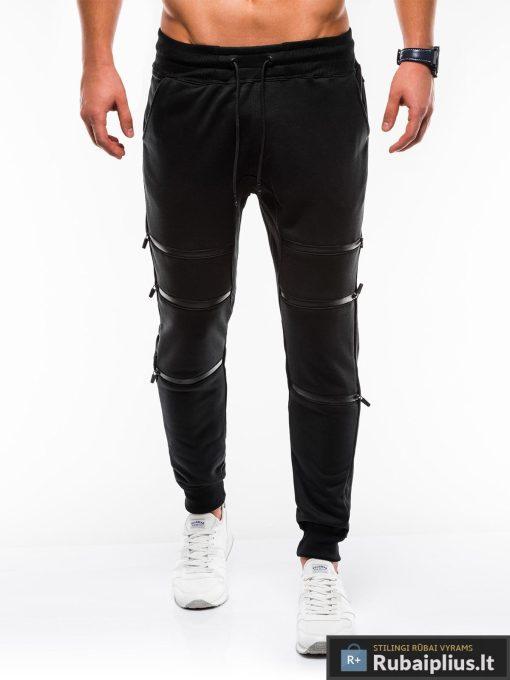 Juodos vyriškos sportinės kelnės internetu pigiau P746J priekis