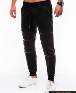 Vyriskos juodos sportinės kelnės vyrams internetu pigiau P746J kairė