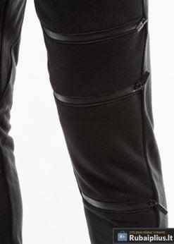Vyriskos juodos sportinės kelnės vyrams internetu pigiau P746J koja