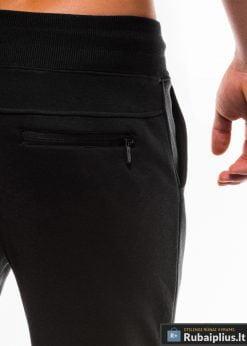 Vyriskos juodos sportinės kelnės vyrams internetu pigiau P746J kišenė