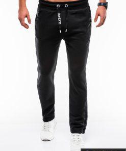 Stilingos juodos sportinės kelnės vyrams Usto internetu pigiau P741J priekis
