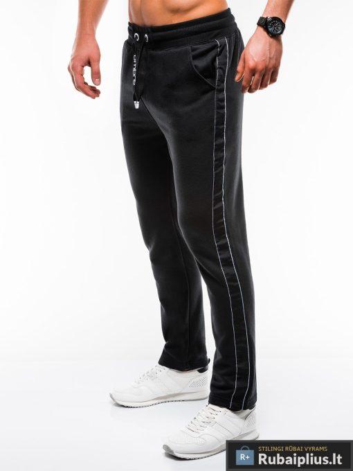 Stilingos juodos sportinės kelnės vyrams Usto internetu pigiau P741J kairė