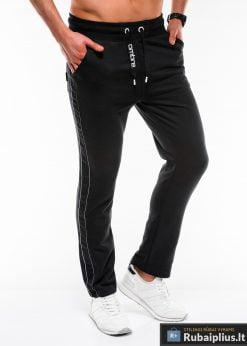 Stilingos juodos sportinės kelnės vyrams Usto internetu pigiau P741J dešinė