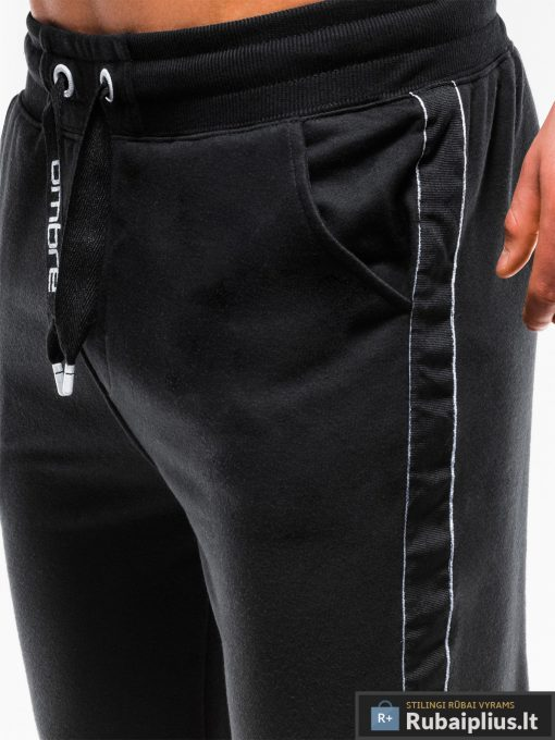 Stilingos juodos sportinės kelnės vyrams Usto internetu pigiau P741J priekis arti