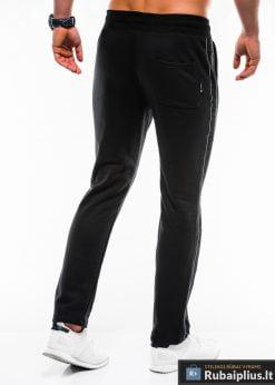 Stilingos juodos sportinės kelnės vyrams Usto internetu pigiau P741J nugara