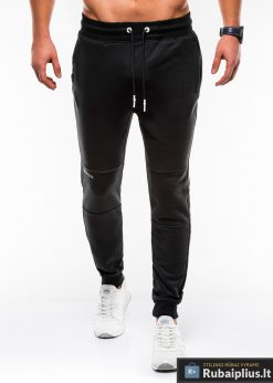 Juodos vyriškos sportinės kelnės internetu pigiau P745J priekis