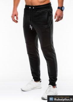 Vyriskos juodos sportinės kelnės vyrams internetu pigiau P745J kairė