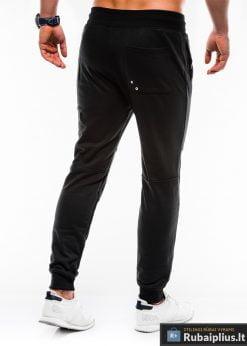 Vyriskos juodos sportinės kelnės vyrams internetu pigiau P745J nugara