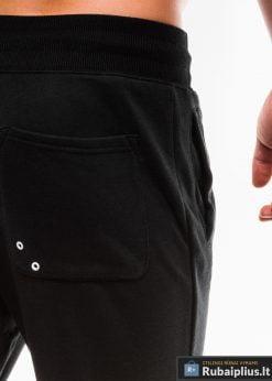 Vyriskos juodos sportinės kelnės vyrams internetu pigiau P745J kišenė
