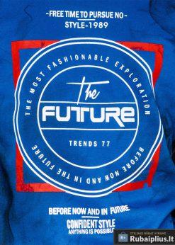 Mėlynas vyriškas džemperis su užrašais vyrams Future internetu pigiau B946M užrašas