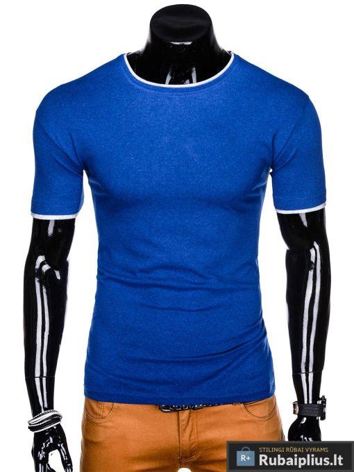 Mėlyni vyriški marškinėliai vyrams Todo internetu pigiau S1033M priekis