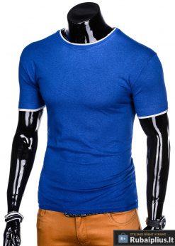 Mėlyni vyriški marškinėliai vyrams Todo internetu pigiau S1033M kairė