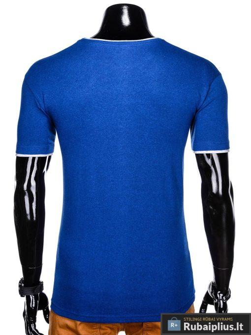 Mėlyni vyriški marškinėliai vyrams Todo internetu pigiau S1033M nugara