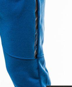 Stilingos vyriskos mėlynos sportinės kelnės vyrams treningines internetu pigiau P743M priekis šonas