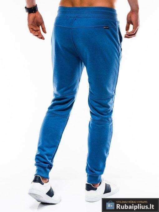 Stilingos vyriskos mėlynos sportinės kelnės vyrams treningines internetu pigiau P743M nugara