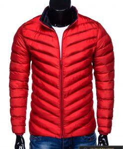 Moderni rudeninė pavasarinė raudona vyriška striukė vyrams Keison internetu pigiau C344R priekis