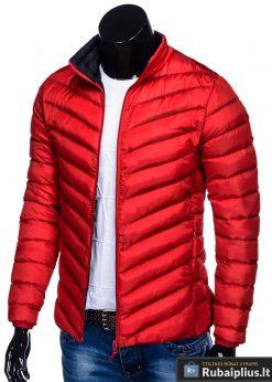 Moderni rudeninė pavasarinė raudona vyriška striukė vyrams Keison internetu pigiau C344R kairė