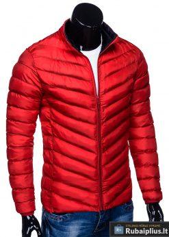 Moderni rudeninė pavasarinė raudona vyriška striukė vyrams Keison internetu pigiau C344R dešinė